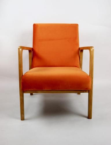 Fotel Vintage Lata 70 Pomarańczowy Pomarańcz