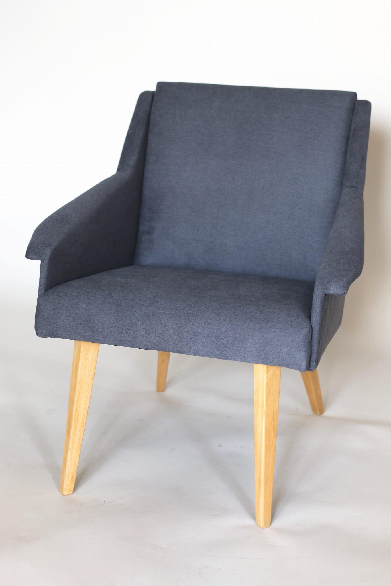 Fotel Klubowy Szary Lata 70
