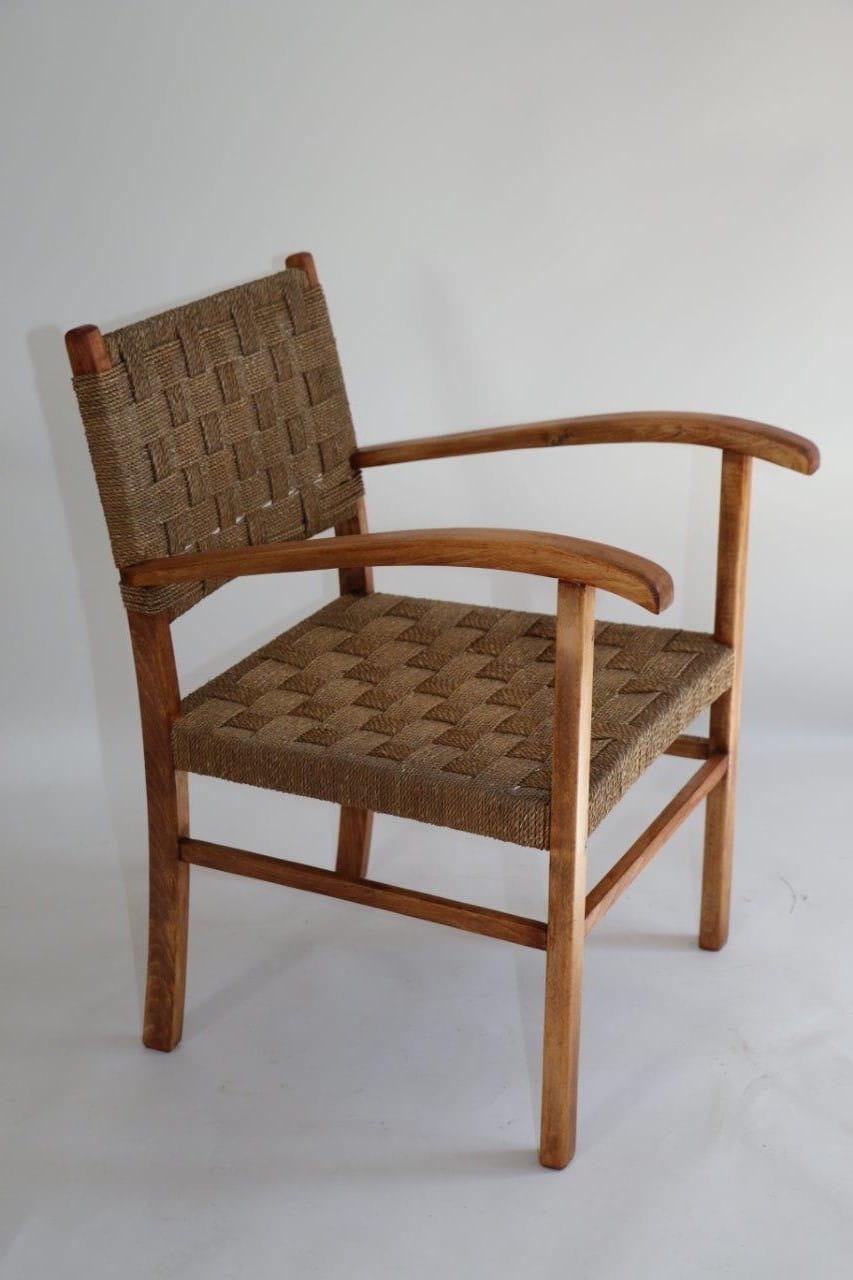 Fotel Pleciony Naturalny Lata 70